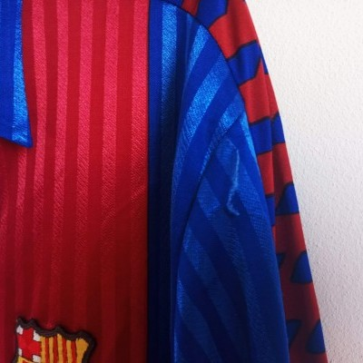 "FC Barcelona Home Long Sleeve Shirt 1989-1992 (L) ""Very Good"""