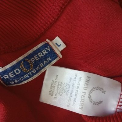 """Fred Perry Track Top Jacket Red Blue (L) """"Very Good"""""""