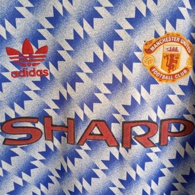 """Manchester United Away Shirt 1990-1992 (XL) """"Very Good"""""""