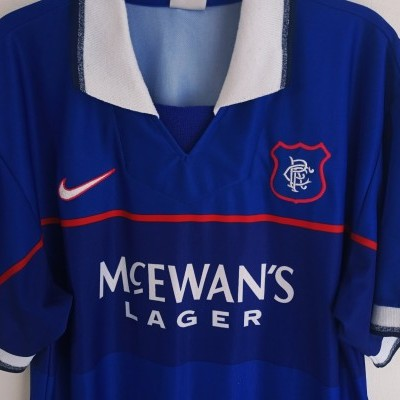 "Glasgow Rangers FC Home Shirt 1997-1999 (M) ""Very Good"""
