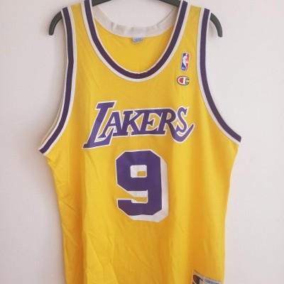 "LA Los Angeles Lakers NBA Shirt #9 Van Exel (44) ""Very Good"""