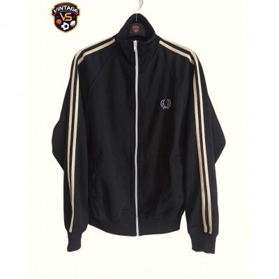 "Fred Perry Jacket Track Top Black Cream (S) ""Good"""