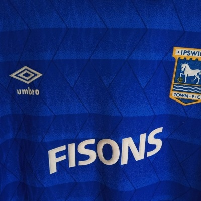 "Ipswich Town FC Home Shirt 1989-1992 (L) ""Very Good"""