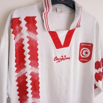 "Tunisia Football Training Shirt 1994  (L) ""Very Good"""