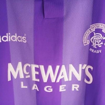 "Glasgow Rangers FC Third Shirt 1994-1995 (XL) ""Very Good"""