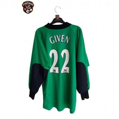 "Newcastle United Goalkeeper Shirt 1997-1998 #22 Given (M) ""Good"""