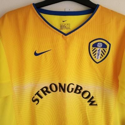 NEW Leeds United FC Away Shirt 2002-2003 (L Youths)