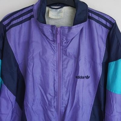 """Vintage Track Top Jacket Adidas Purple  Blue (M) """"Very Good"""""""