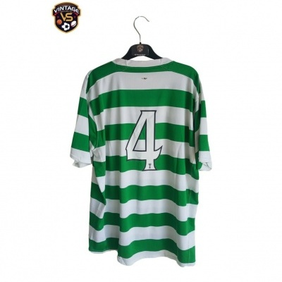 """Player Issue Celtic FC Home Shirt 2007-2008 #4 (XL) """"Good"""""""