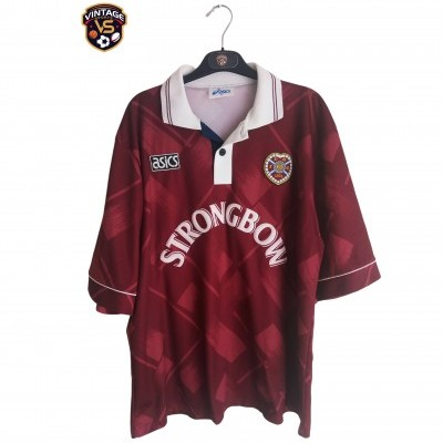 "Heart of Midlothian Hearts FC Home Shirt 1993-1995 (XL) ""Very Good"""