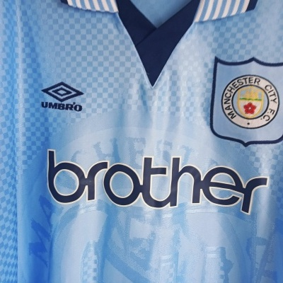 "Manchester City Home Shirt 1995-1997 (XL) ""Perfect"""