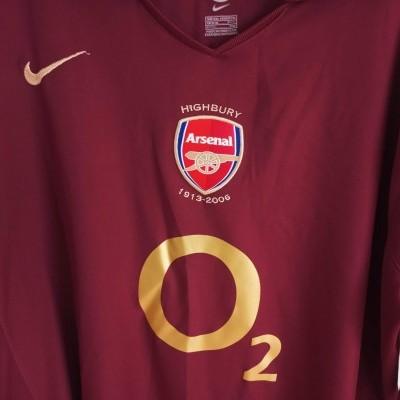 "Arsenal FC Home Shirt 2005-2006 (XXL) ""Very Good"""