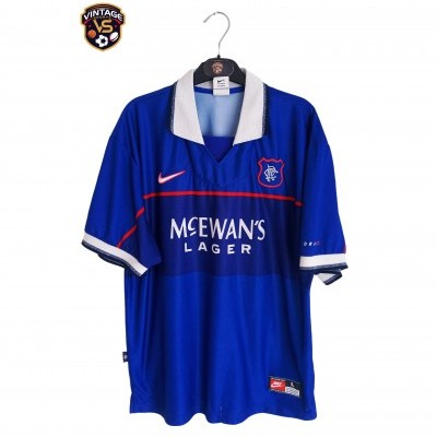 "Glasgow Rangers FC Home Shirt 1997-1999 (L) ""Good"""