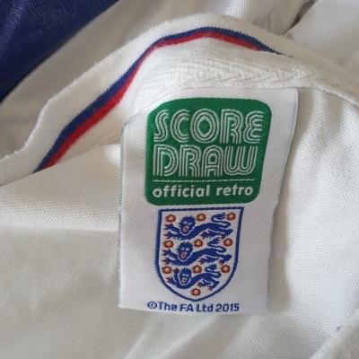 """Official Retro England Home Shirt 1982 (L) """"Very Good"""""""