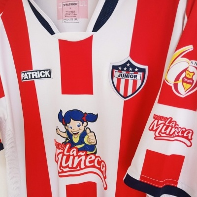 """Atletico Junior FC Home Shirt 2007 Colombia #24 (L) """"Very Good"""""""