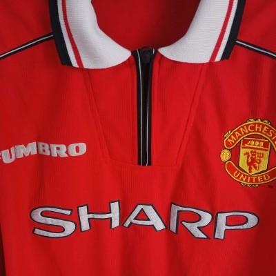 "Manchester United Home Shirt 1998-1999 (XL) ""Very Good"""