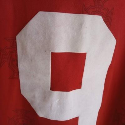 """Matchworn Portugal Home Shirt 1995 #9 Sa Pinto (XL) """"Very Good"""""""