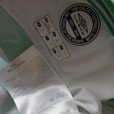 "Celtic FC Centenary Home Shirt 2003-2004 (L) ""Very Good"""