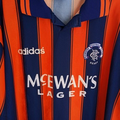 "Glasgow Rangers FC Away Shirt 1993-1994 (XL) ""Very Good"""