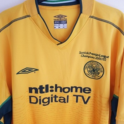 "Celtic Glasgow FC Away Shirt Champions 2002-2003 (XL) ""Very Good"""
