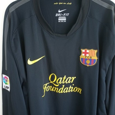 "FC Barcelona Away Long Sleeve Shirt 2011-2012 (XXL) ""Very Good"""