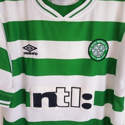 "Celtic Glasgow FC Home Shirt 1999-2000 (Youths) ""Very Good"""