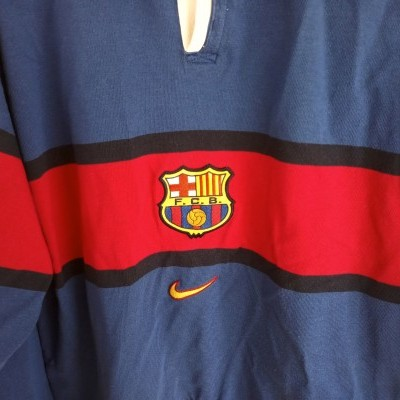 "FC Barcelona Sweatshirt Top Shirt 1990s (M) ""Good"""