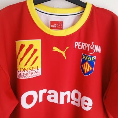 "USAP Perpignan Rugby Home Shirt 2005 Player Version (3XL) ""Perfect"""