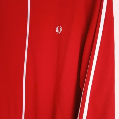 "Fred Perry Track Top Jacket Red White (L) ""Very Good"""