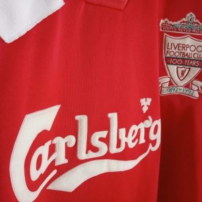 """Liverpool FC Centenary Home Shirt 1992-1993 (XL) """"Good"""""""