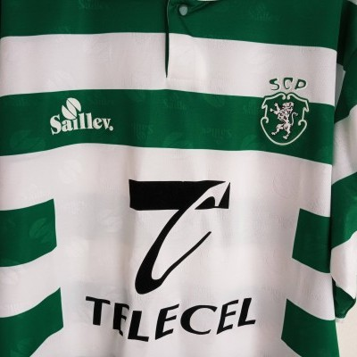 "Sporting CP Home Shirt 1996-1998 (XXL) ""Very Good"""