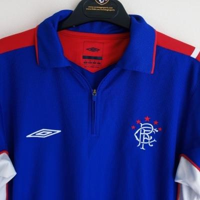 "Glasgow Rangers FC Polo Shirt (M) ""Very Good"""