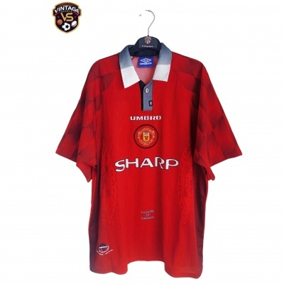 "Manchester United Home Shirt 1996-1998 #9 Cole (XL) ""Good"""