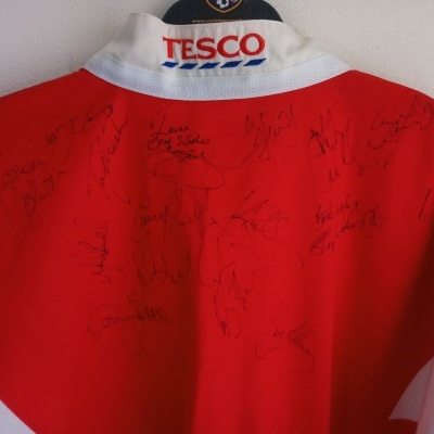 """Signed Wigan Warriors Rugby League Home Shirt 1998 (S) """"Very Good"""""""