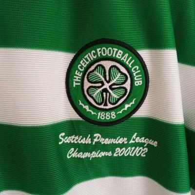 "Celtic FC Home Shirt 2001-2002 Champions (XL) ""Very Good"""