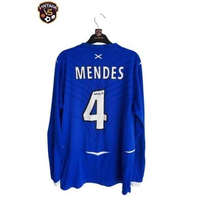 "Glasgow Rangers FC L/S Home Shirt 2008-2009 #4 Mendes (L) ""Good"""