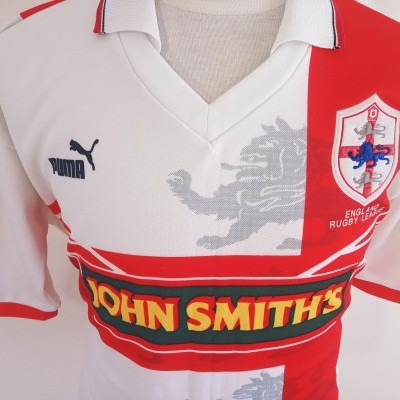 "England Rugby League Home Shirt 1995 (M) ""Very Good"""