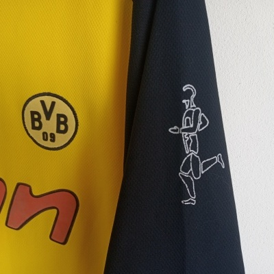 "BVB Borussia Dortmund Home Shirt 2001-2002 #22 Amoroso (XL) ""Good"""