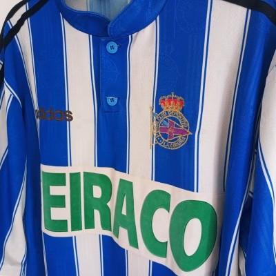"""Deportivo La Coruna Coruña Home Shirt 1996-1998 (L) """"Good"""""""