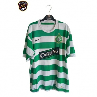 """Player Issue Celtic FC Home Shirt 2007-2008 #5 (XL) """"Good"""""""