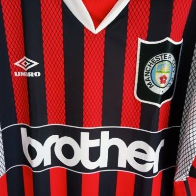 """Manchester City Away Shirt 1994-1995 (XL) """"Very Good"""""""