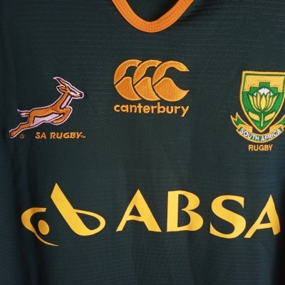 "South Africa Rugby Home Shirt 2013-2014 (L) ""Very Good"""