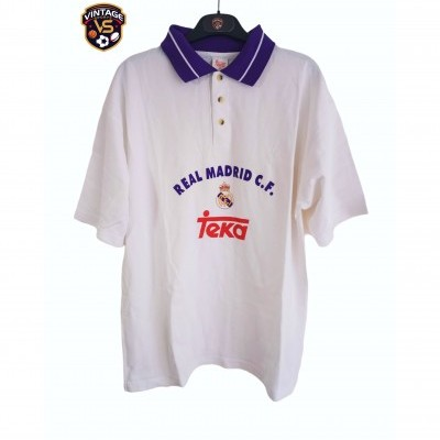 "Real Madrid Football Polo Shirt 1990s (XL) ""Very Good"""