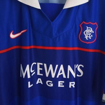 """Glasgow Rangers FC Home Shirt 1997-1999 (XL) """"Good"""""""