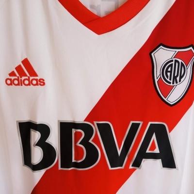 "River Plate Home Shirt 2016-2017 Free Socks (L) ""Perfect"""