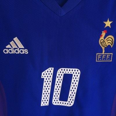 "France Home Shirt 2002 #10 Zidane (S) ""Very Good"""