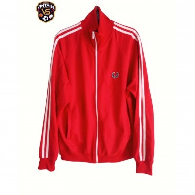 "Fred Perry Jacket Track Top Red White (M) ""Very Good"""