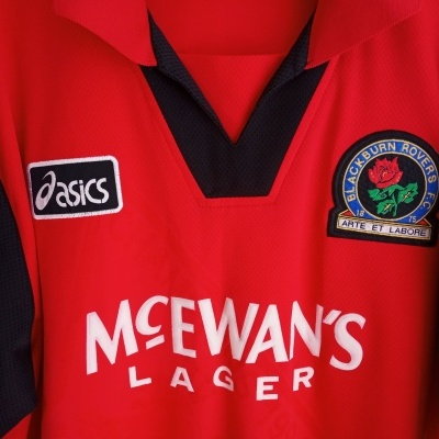 "Blackburn Rovers Away Shirt 1995-1996 (XL) ""Very Good"""
