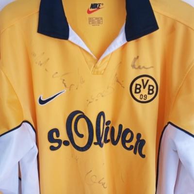 "Signed BVB Borussia Dortmund Home Shirt 1998-2000 L/S (M) ""Good"""