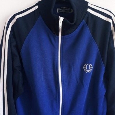 """Fred Perry Jacket Track Top Blue Black (S) """"Good"""""""
